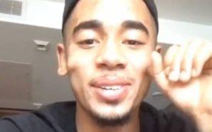 Gabriel Jesus zoado por Neymar