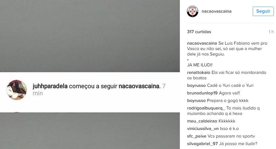 Reprodução/ Instagram Nação Vascaína