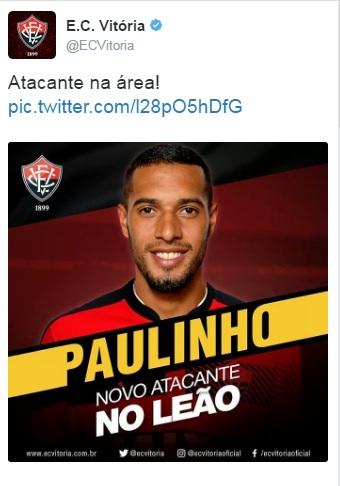 Vitoria anuncia Paulinho