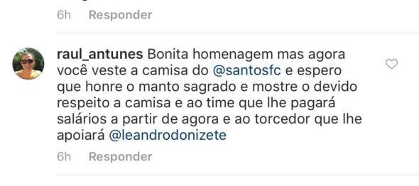 Leandro Donizete, reforço do Santos para 2017, é cobrado por foto de perfil no Instagram com a camisa do Atlético-MG