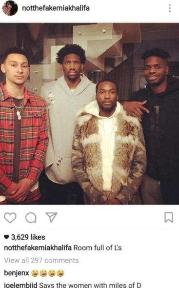 Joel Embiid, pivô da NBA, troca farpas com atriz pornô Mia Khalifa em rede social