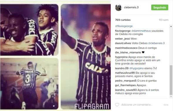 """Torcedores do Santos invadem fotos de reforço com camisa do rival: """"Apaga"""""""