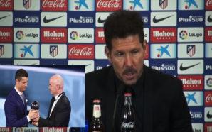 Foto Simeone: Reprodução/ Youtube (Atlético de Madrid) Foto Cristiano Ronaldo: Divulgação/Site Oficial da FIFA