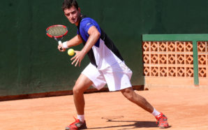 Na foto, o tenista Gabriel Bugiga. Crédito: Mauricio Vieira