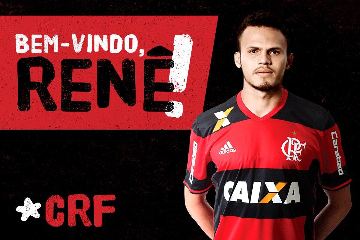 Renê é apresentado no Flamengo e alfineta Sport: 'Vim para ser hepta'