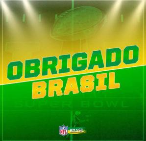 A participação dos brasileiros agrada tanto a NFL, que foi postada em sua página oficial do Facebook uma foto agradecendo