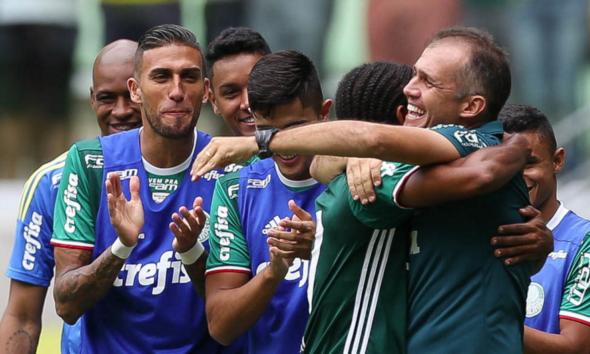 Keno vem sendo titular absoluto de Eduardo Baptista. Foto: César Greco/ Ag. Palmeiras