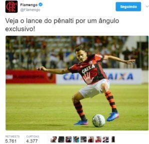Flamengo pênalti do Renê