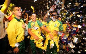 Atletas brasileiros no evento de abertura - Fonte: Divulgação