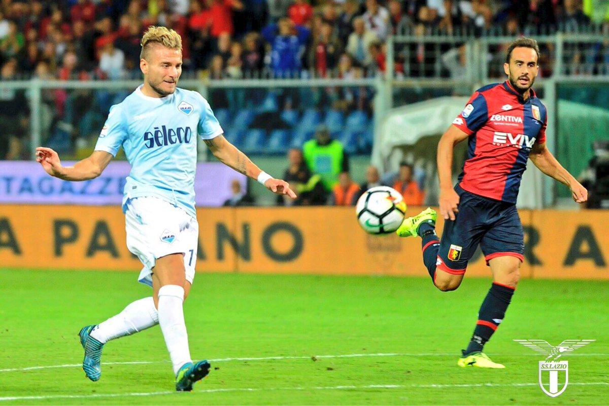 Com dois gols de Ciro Immobile, Lazio vence o Genoa pelo Campeonato Italiano (Foto: Reprodução/Twitter oficial da Lazio)