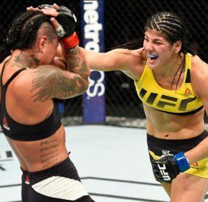 A brasileira Ketlen Vieira busca manter sua invencibilidade no UFC 215 (Foto: Divulgçaão/Josh Hedges/Zuffa LLC/Zuffa LLC via Getty Images)