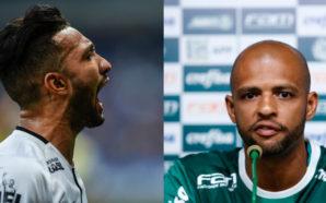 Felipe Melo e Clayson Palmeiras e Corinthians