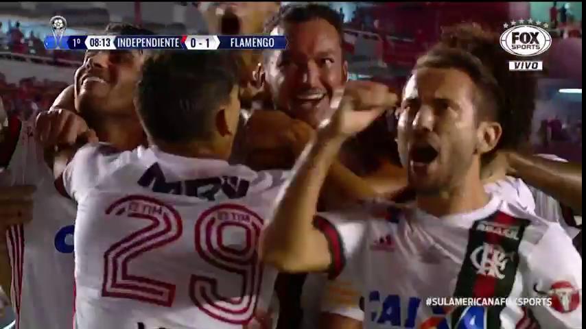 Independiente x Flamengo Gol