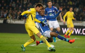 Neymar em derrota do PSG para o Strasbourg